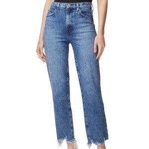 J BRAND High Rise Straight Jeans